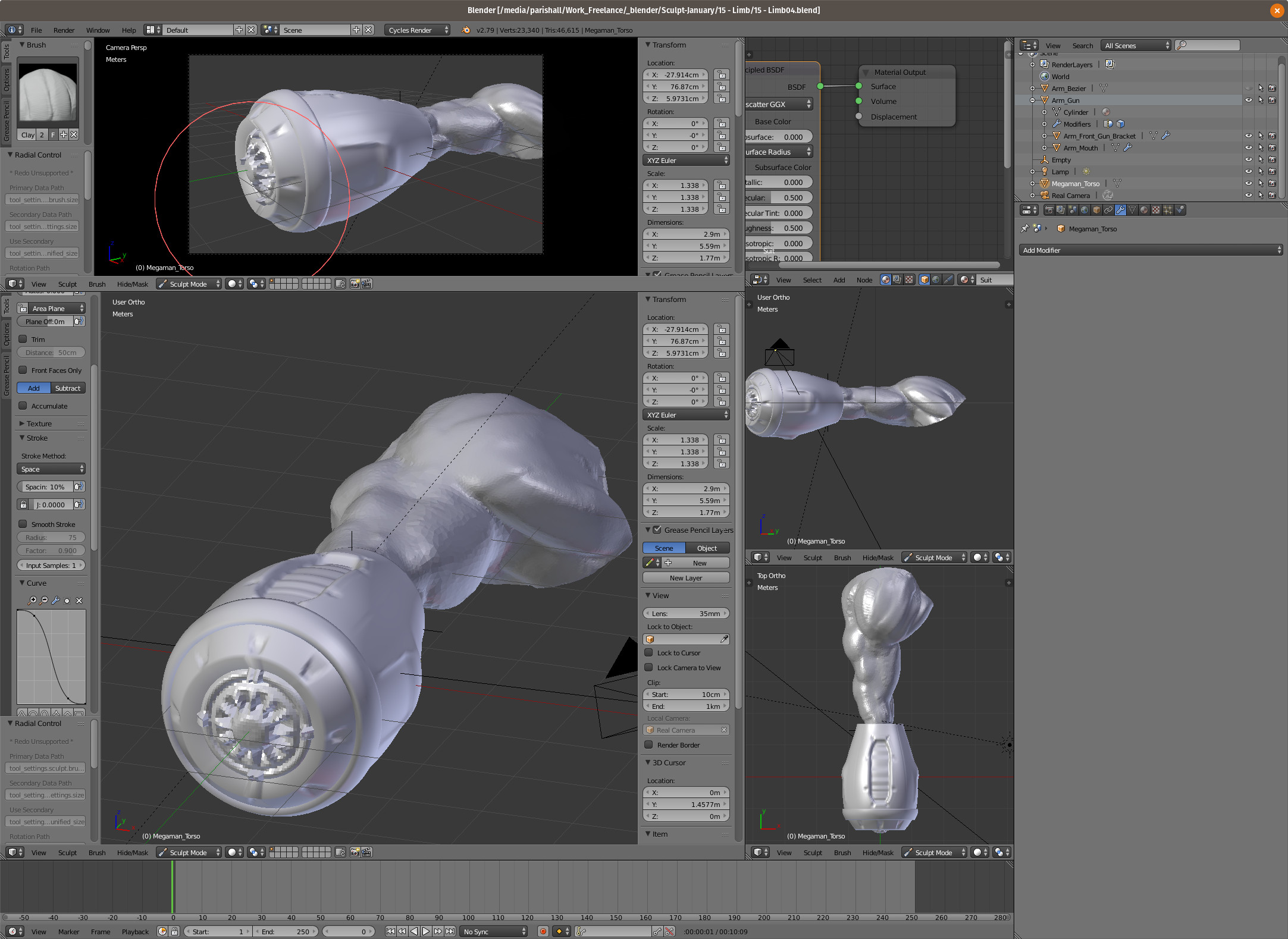 It was fun to sculpt the details in the plasma cannon. Maybe some day I'll clean it up and develop it more.