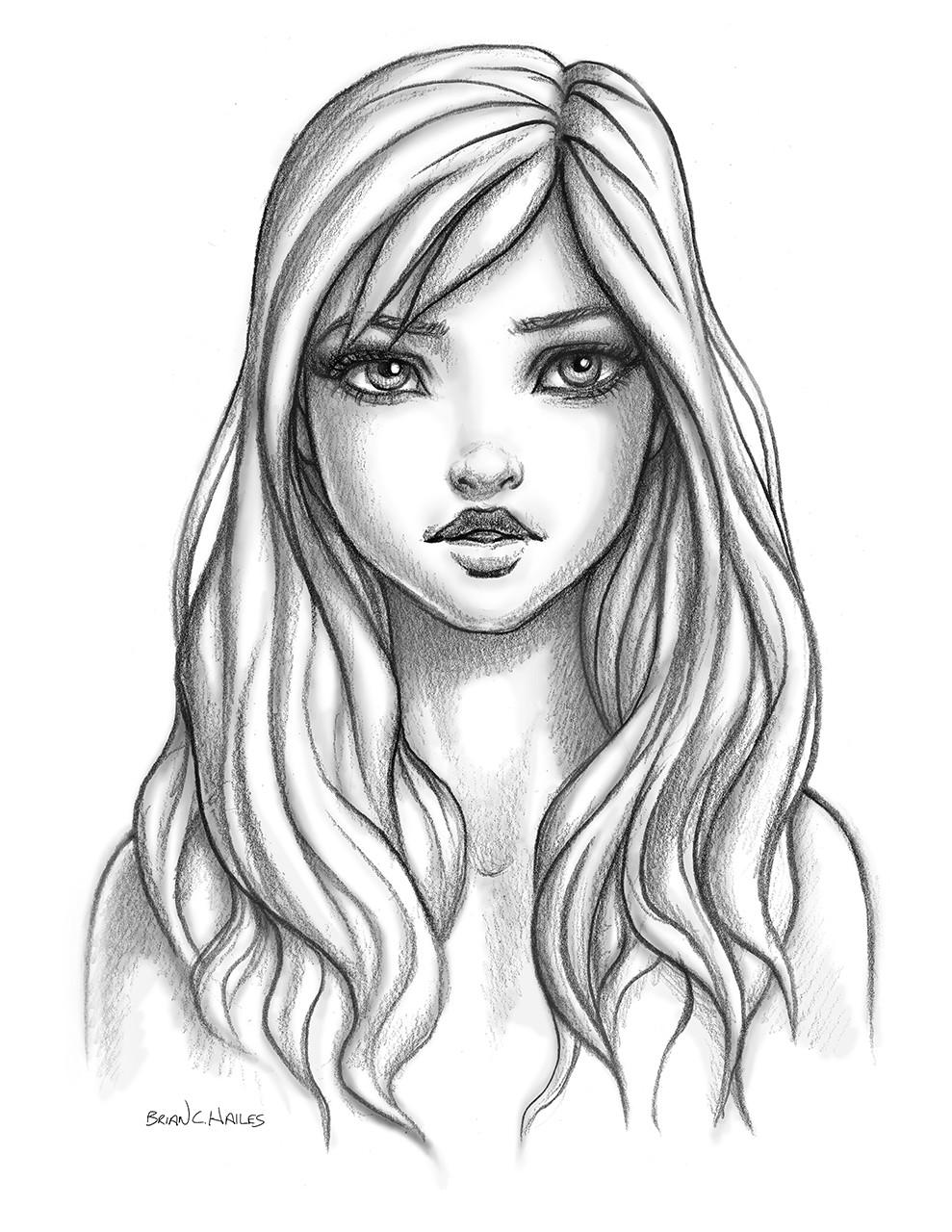 Artstation Female Face Cartoon Style Brian C Hailes