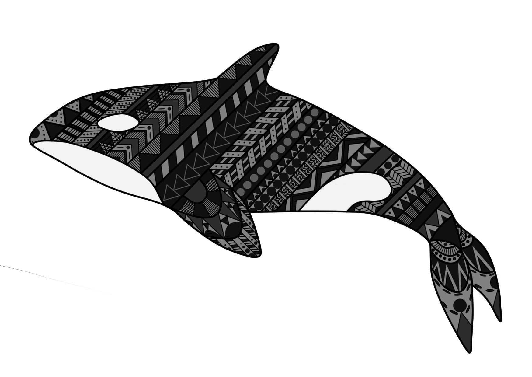 Jessica olney patterned whale pattern