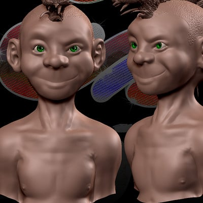 Sespider productions zbrush practice boy 1 by sespider d3bhjxq