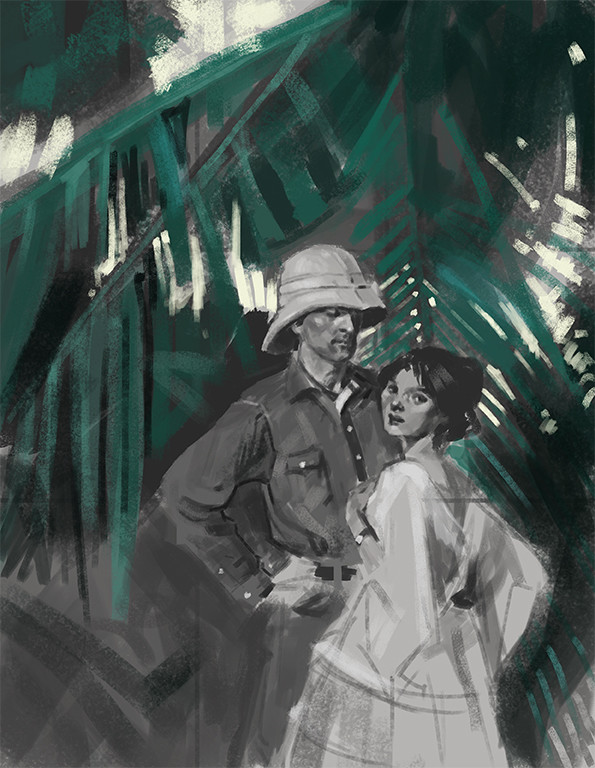 Study of a Dean Cornwell painting