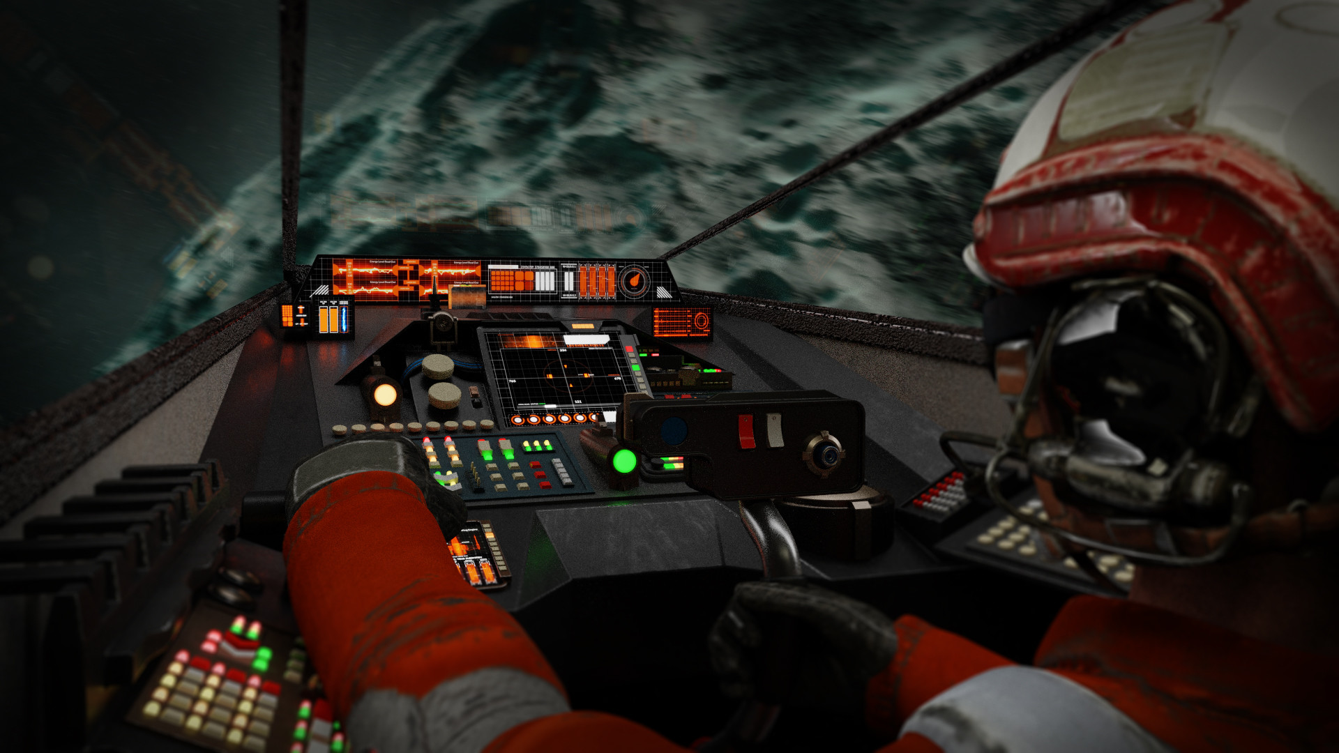 Artstation Animated Panels For X Wing Cockpit Stephan Deutsch