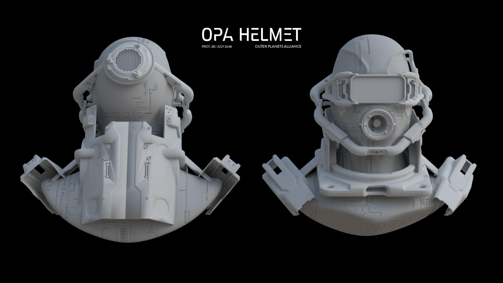 Michelangelo girardi opa helmet clay details