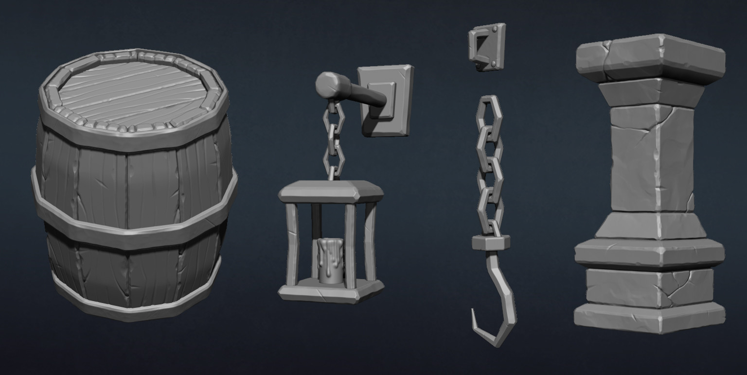 Zbrush hipoly sculpts
