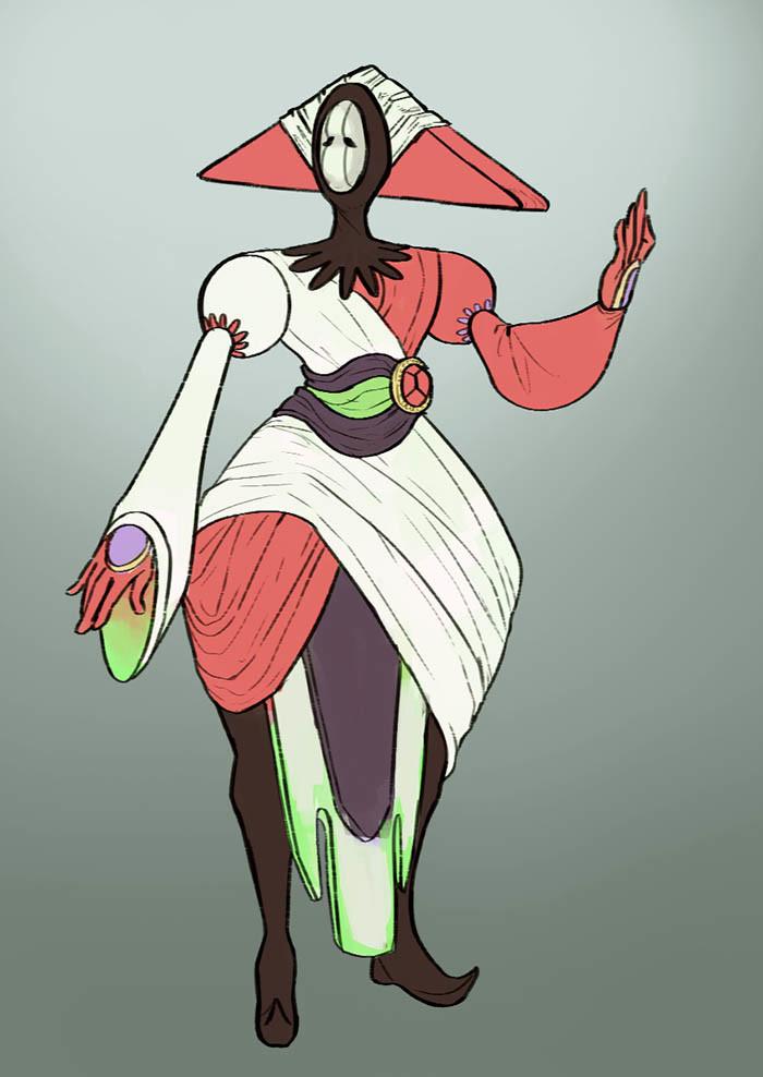 Monika mikucka alien flatcolors