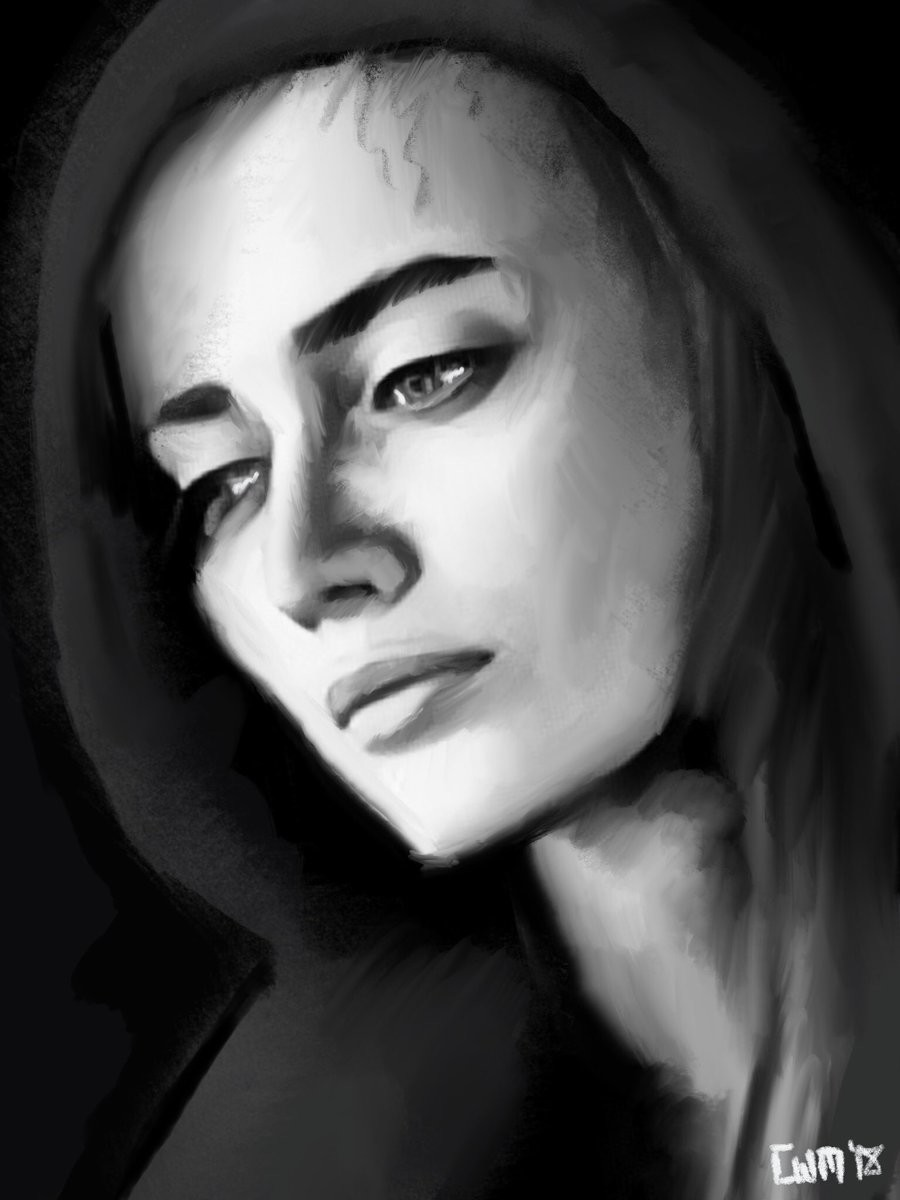 iPad Speedpaint - Hooded Portrait