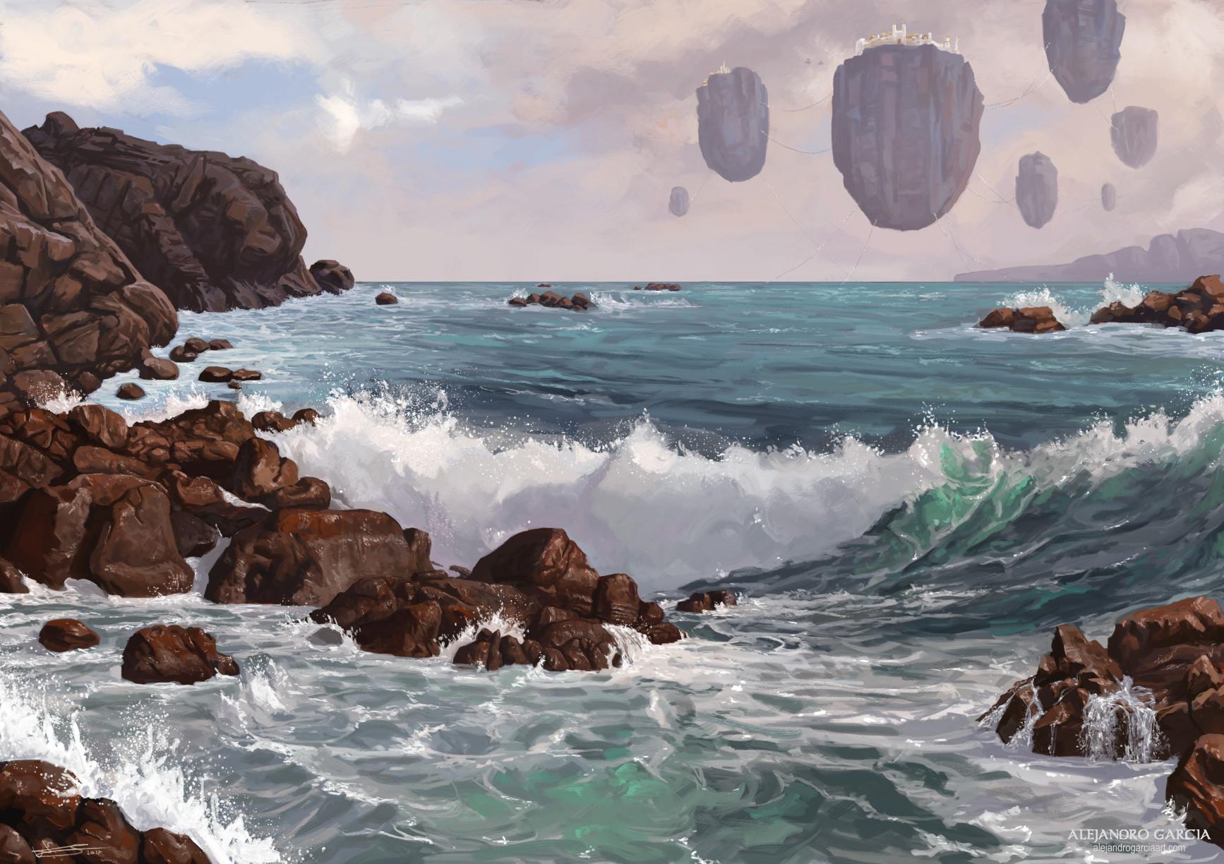 Floaty rocks on the coast