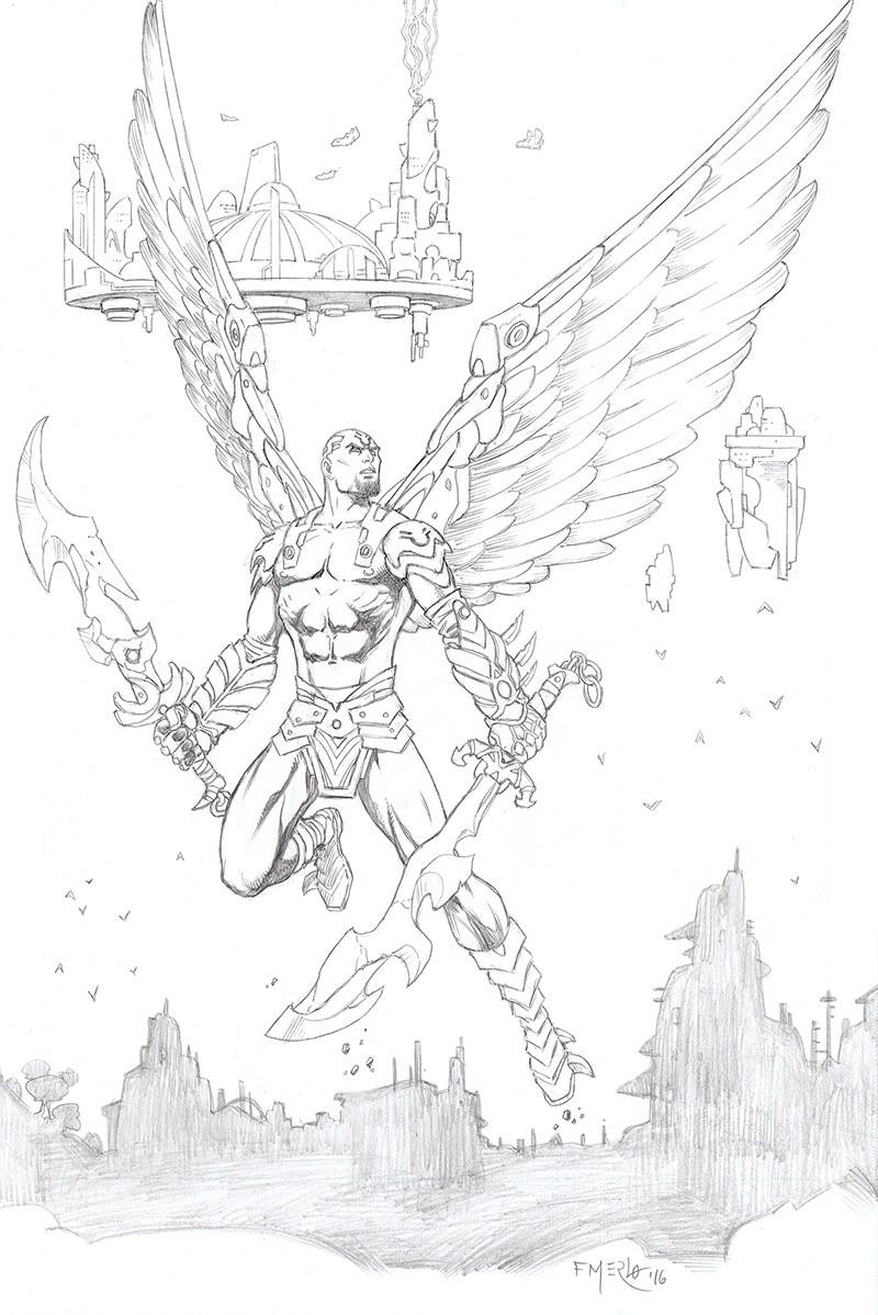 Fernando merlo winged warrior