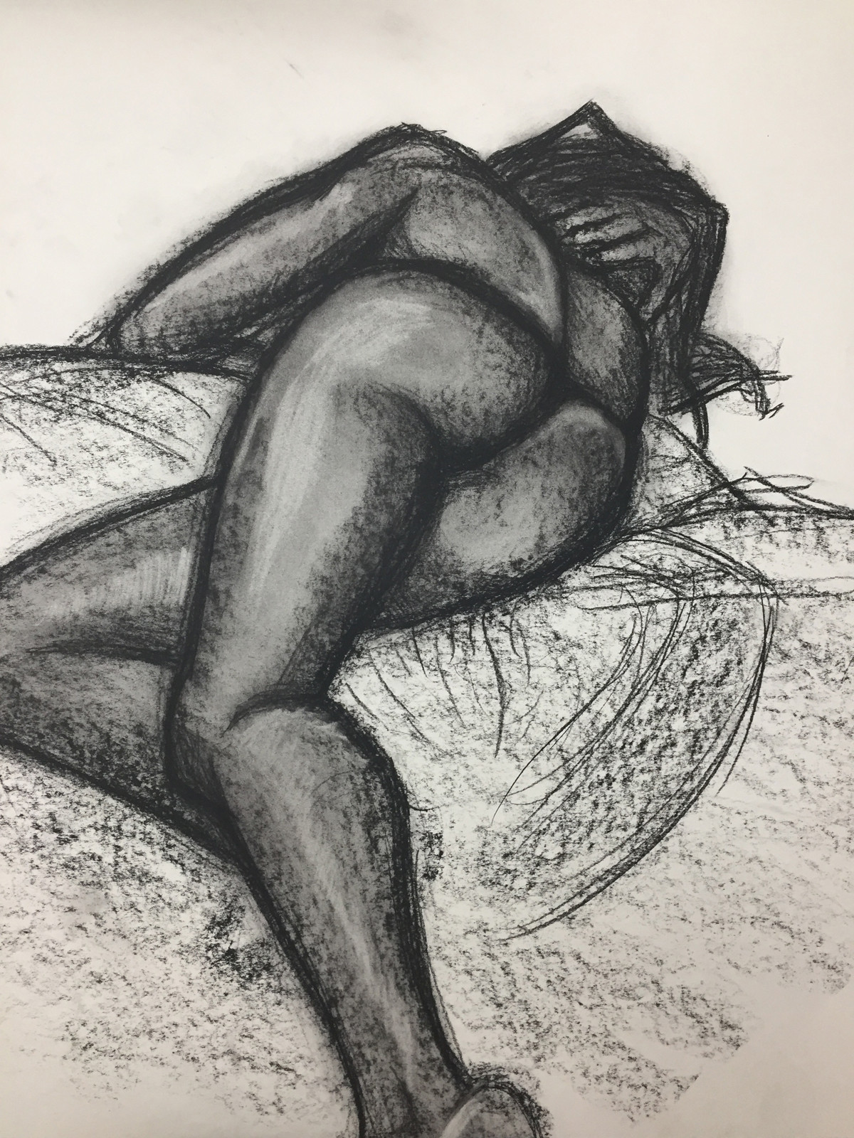 Pressed charcoal