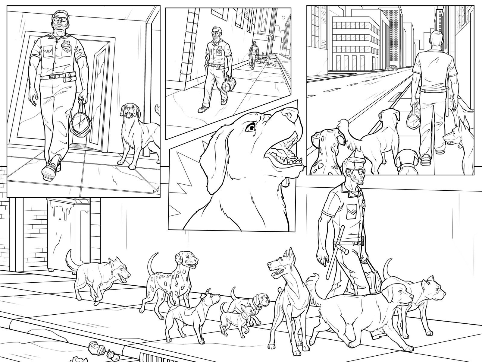 Get 'Em game cutscene comics Pg 16 Inks  Behdad Sami Interactive © 2018