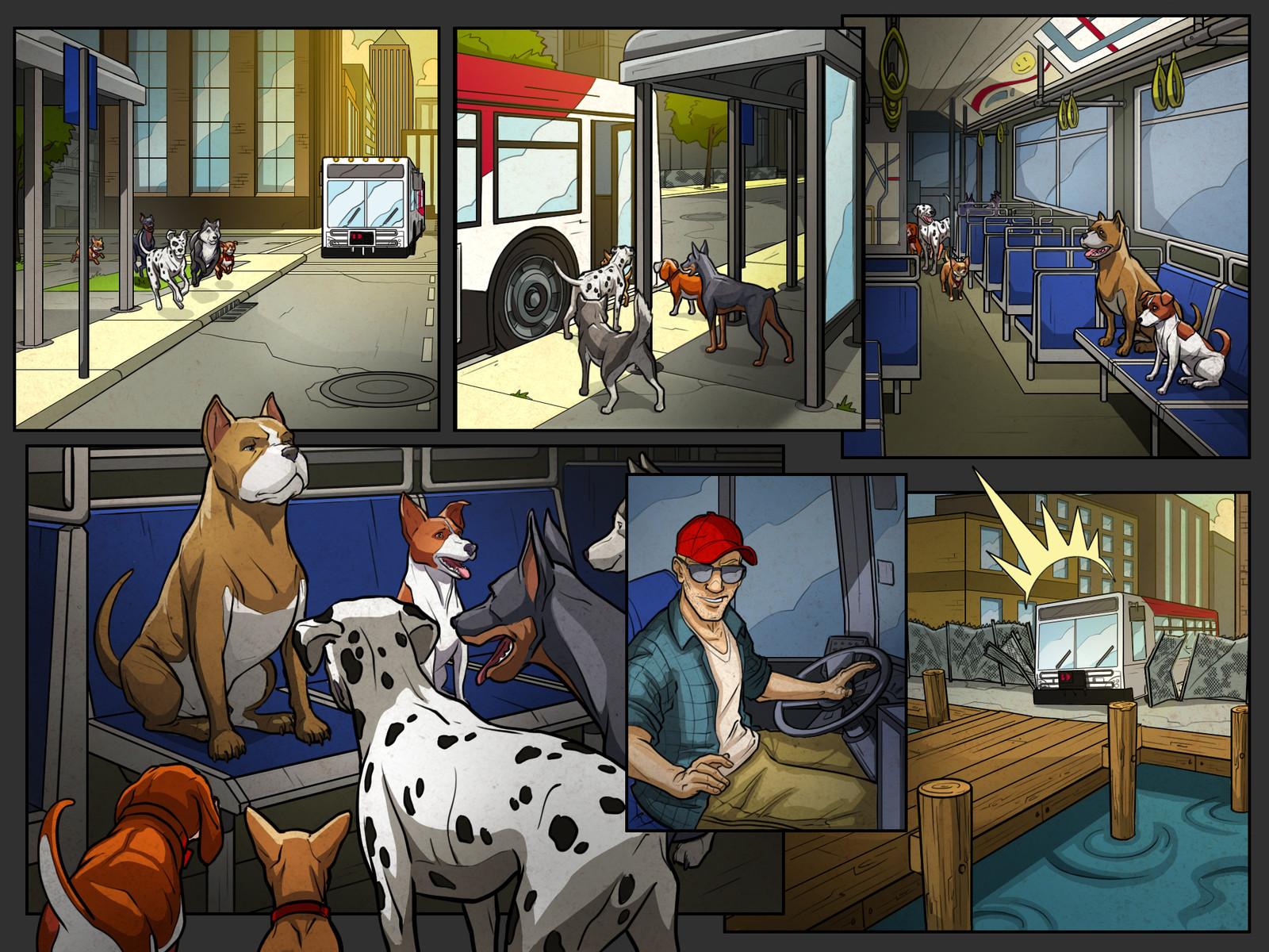 Get 'Em game cutscene comics Pg 11 Color  Behdad Sami Interactive © 2018