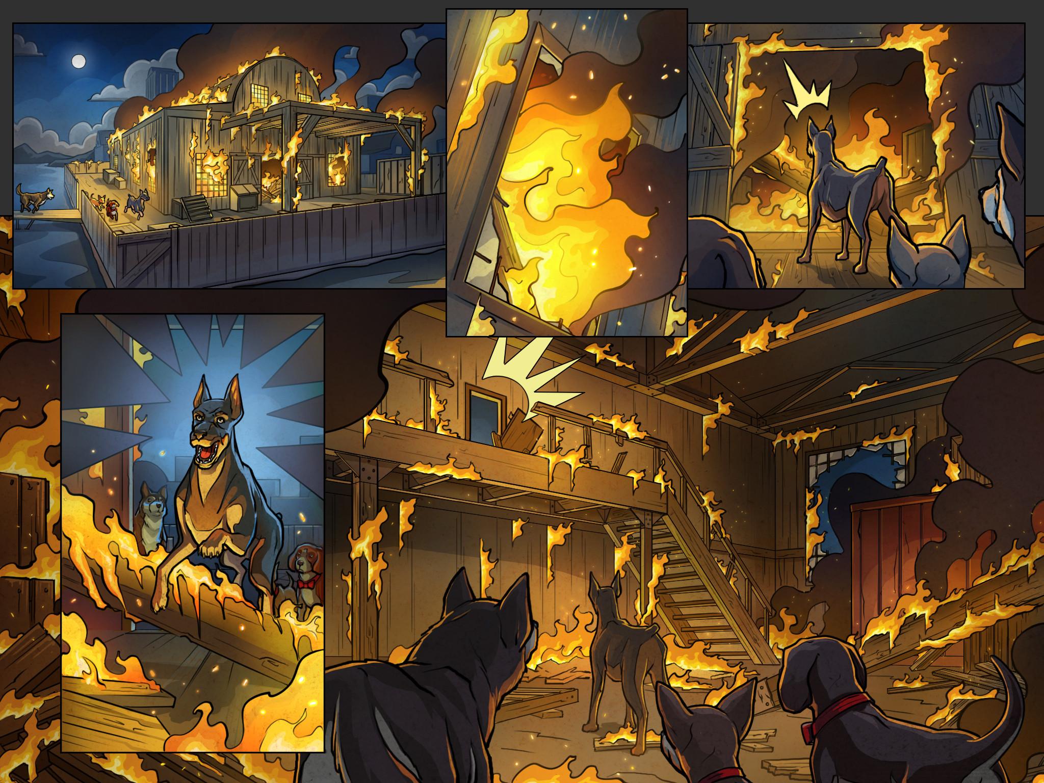 Get 'Em game cutscene comics Pg 6 Color  Behdad Sami Interactive © 2018
