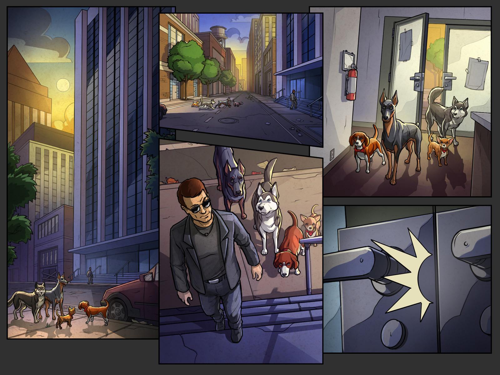 Get 'Em game cutscene comics Pg 9 Color  Behdad Sami Interactive © 2018