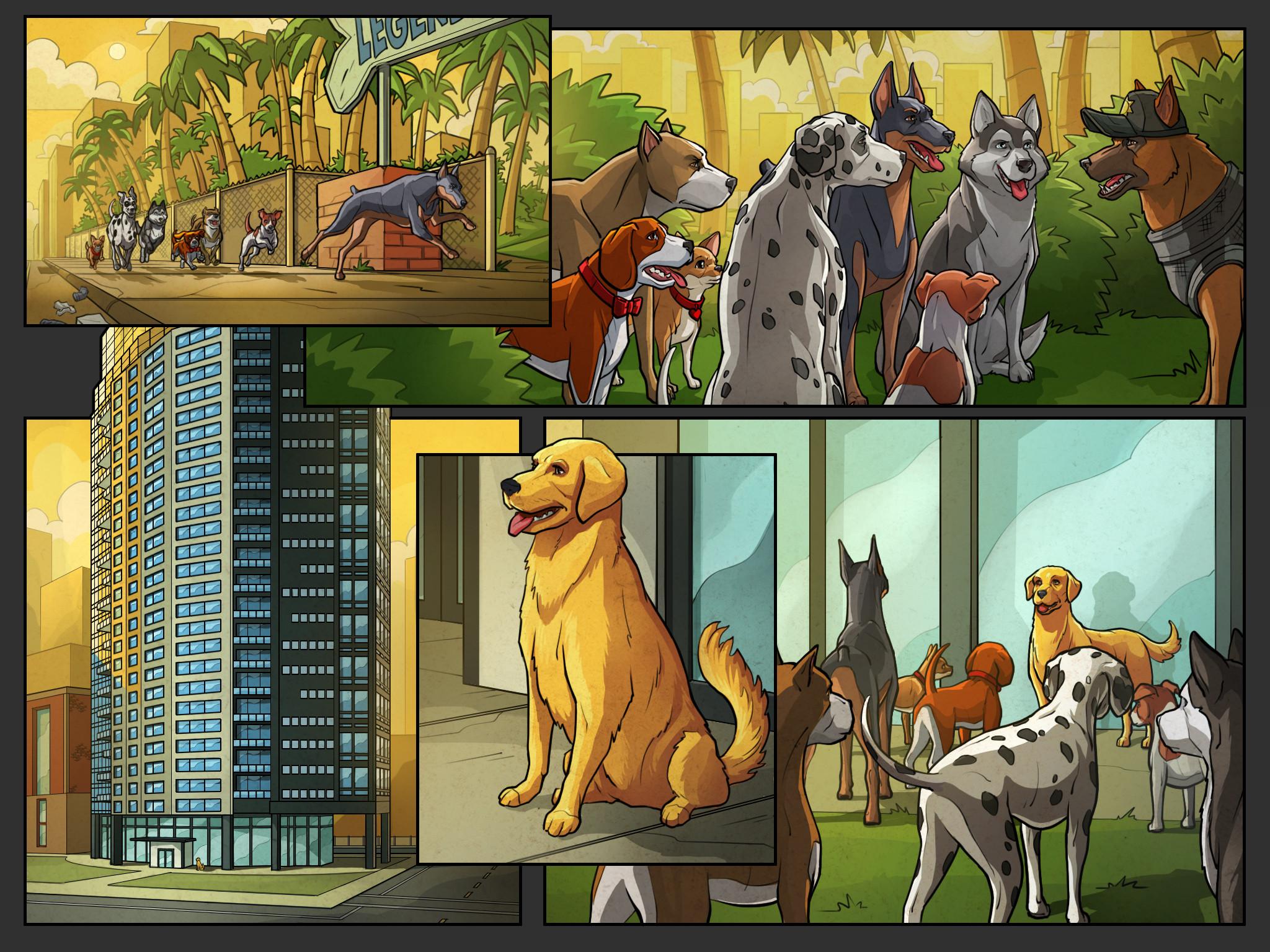 Get 'Em game cutscene comics Pg 15 Color  Behdad Sami Interactive © 2018