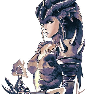 Justin paul dragon symmetra color by justin paul