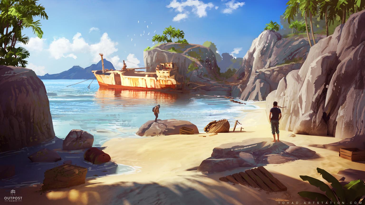 SOS concept art : shipwreck