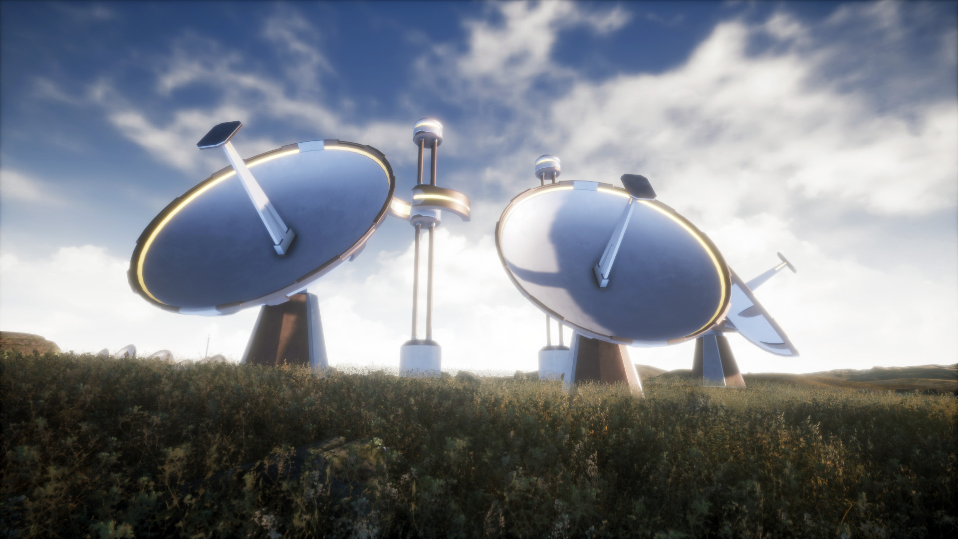 I know theyre not monuments, but giant satellites and antennas do make for some good scene filler.