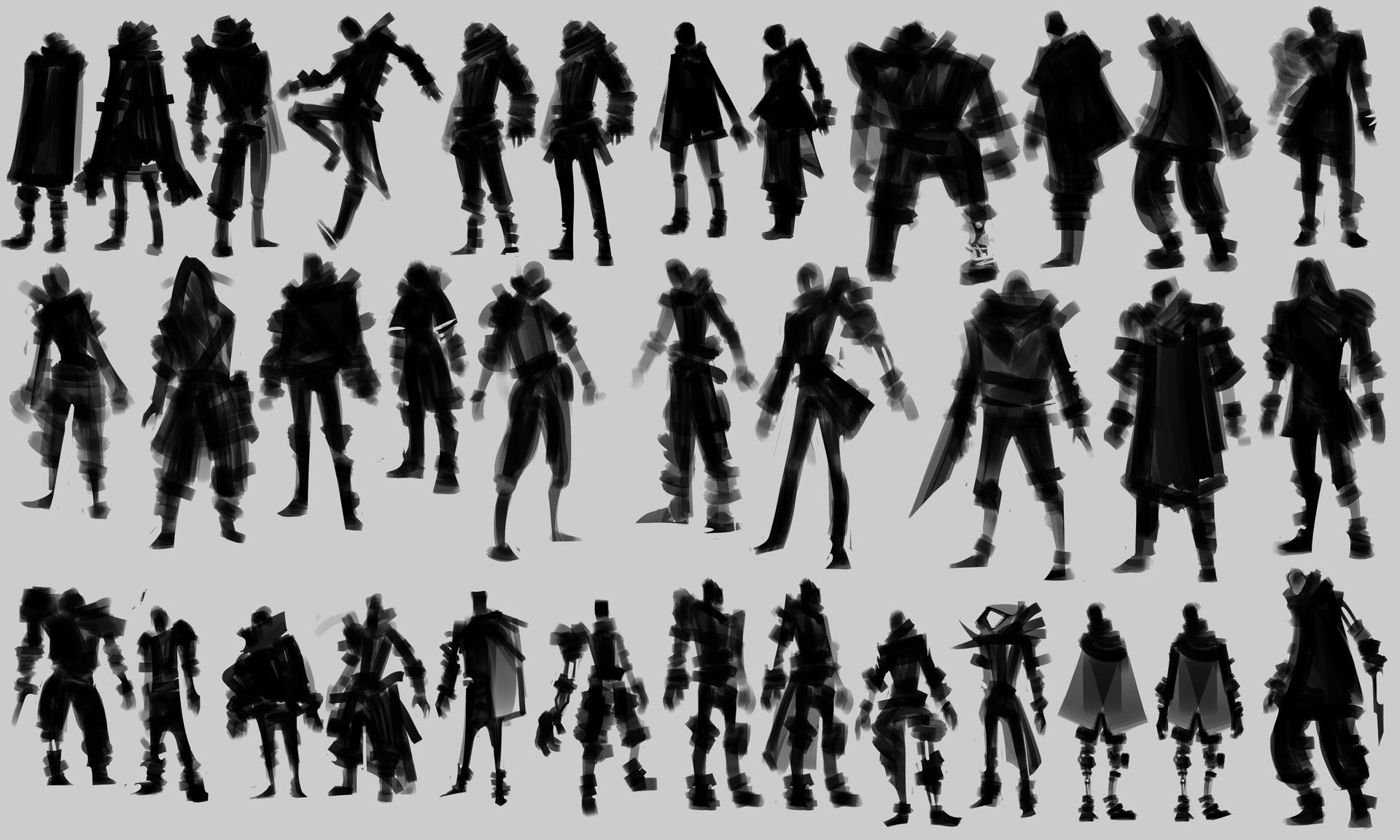 Sophia manio characterdesign silhouettes01