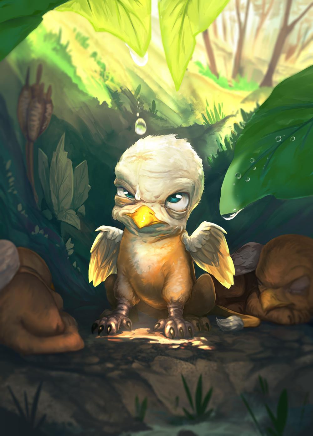 Baby Gryphon Hearthstone Fanart