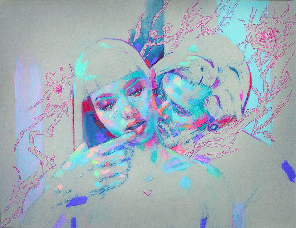 Intertwined lovers II