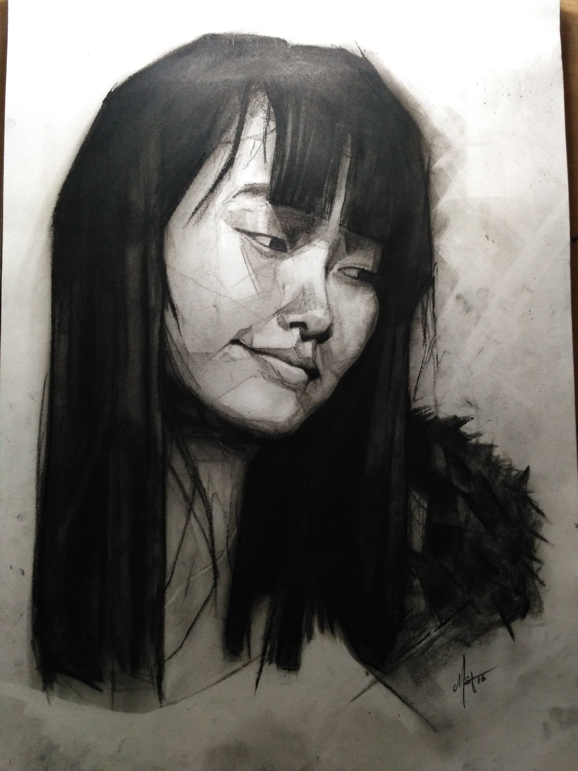 C m s dawngliana youngbully portrait charcoal