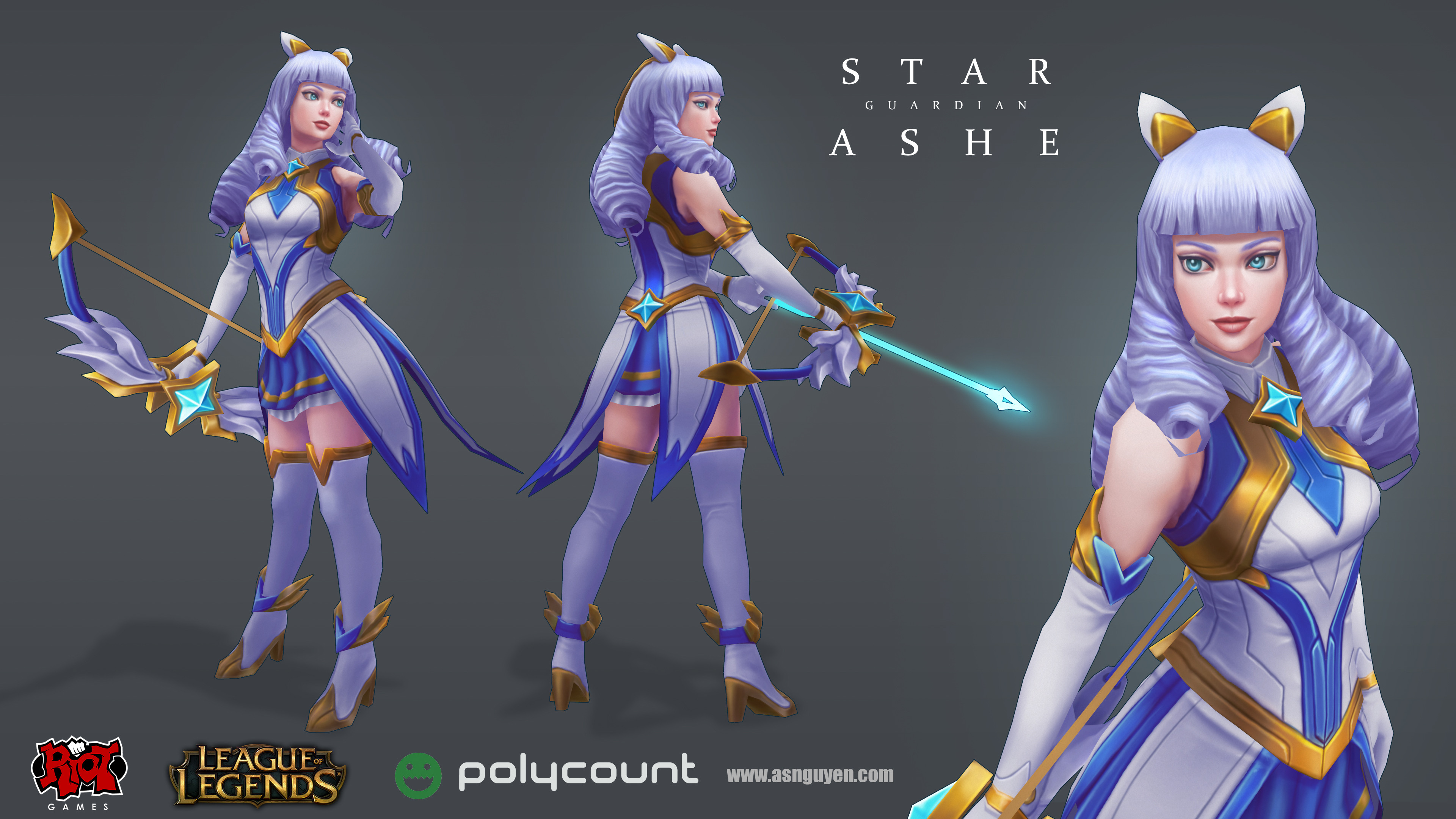 ArtStation - Star Guardian Ashe - Polycount/Riot Creative Contest 2017,  Alex Nguyen
