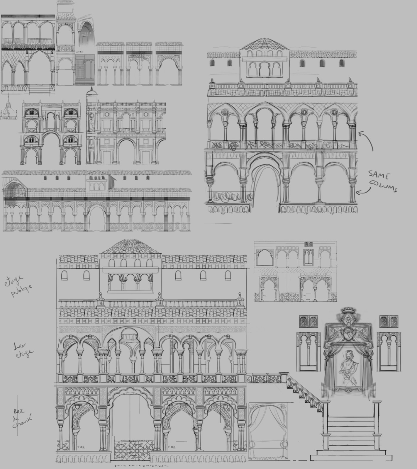 Defining the shape language and architecture.