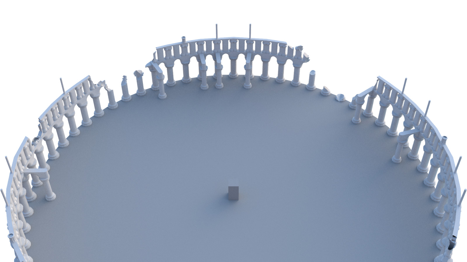 Procedural level tool used to make the level boundries
