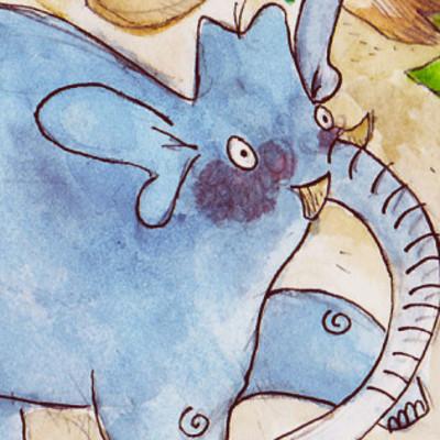 Elephant dans sa jungle