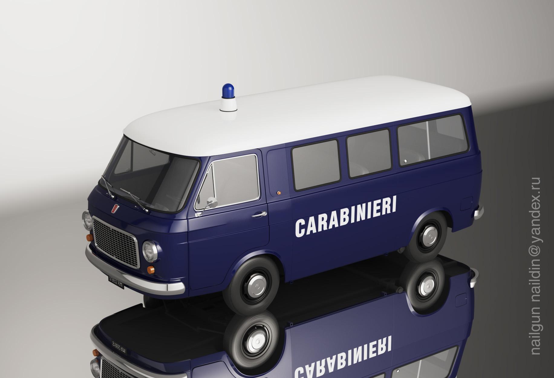 Nail khusnutdinov m001 fiat 238 carabinieri miniature mirror