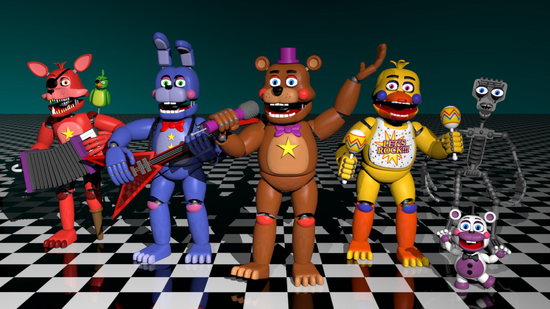 ArtStation - Freddy Fazbear's Pizzeria Simulator Fan-Made Rockstar