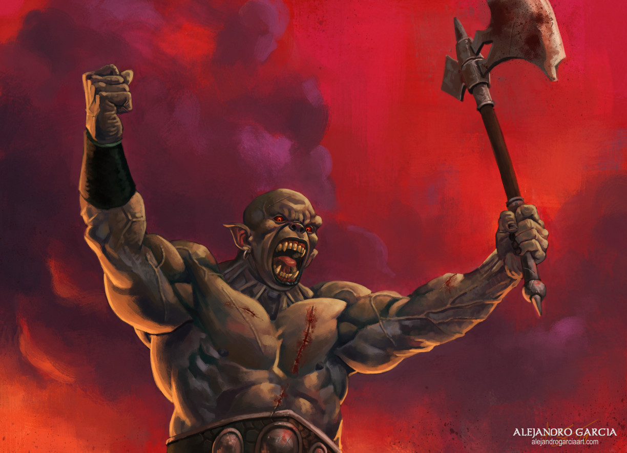 Victorious orc