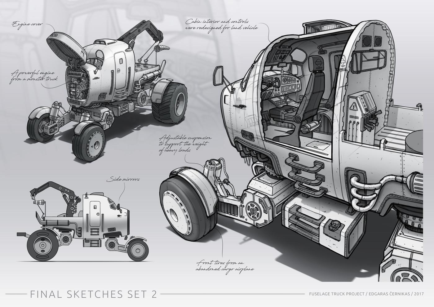 Jonas prunskus edgaras cernikas fuselage truck final sketches set 2 1400x990