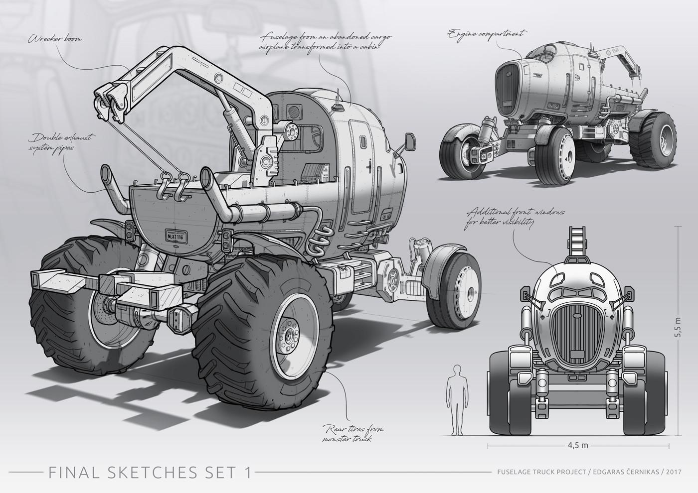 Jonas prunskus edgaras cernikas fuselage truck final sketches set 1 1400x990