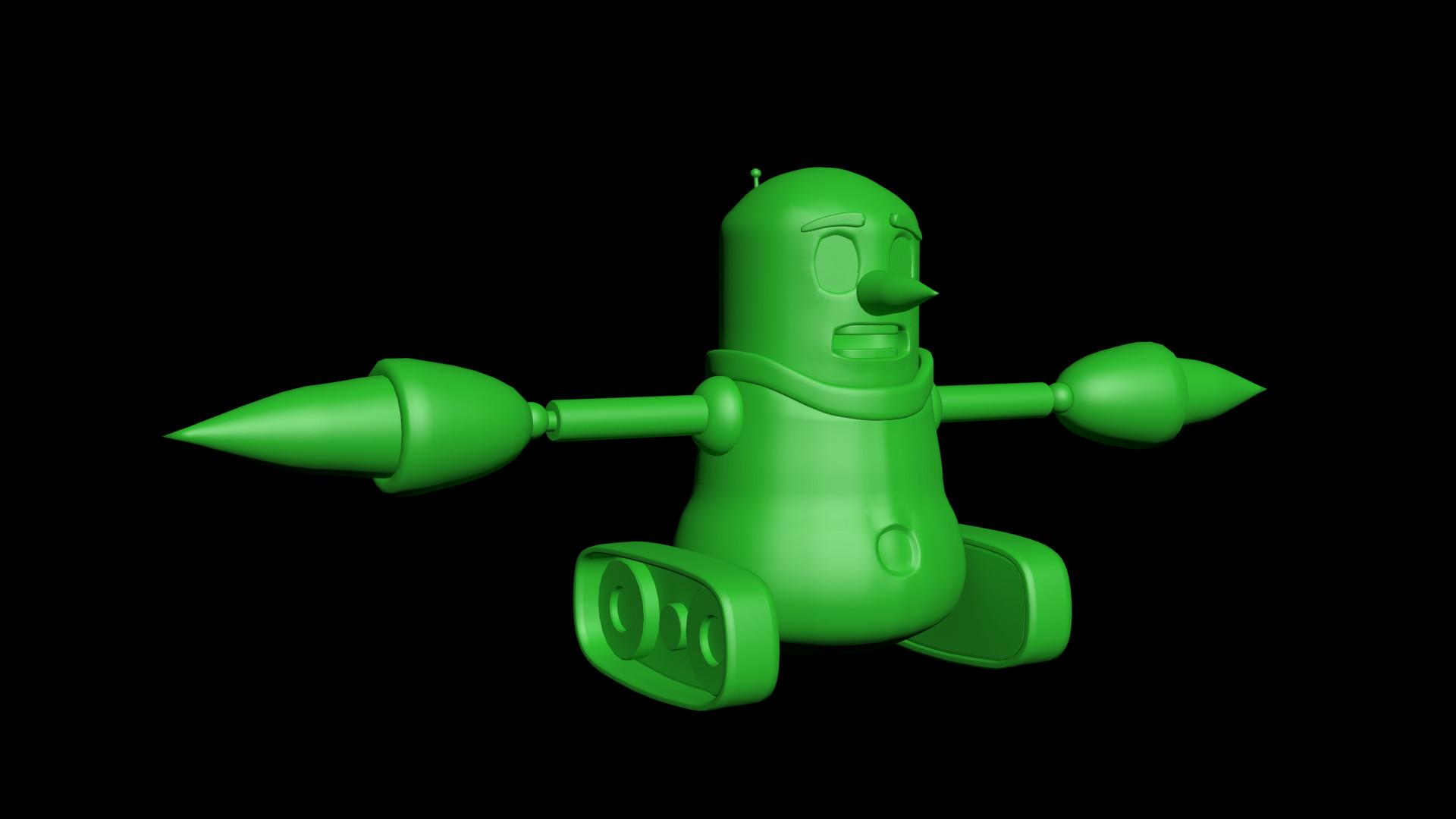 Untextured Model in 3DSMax (Front)