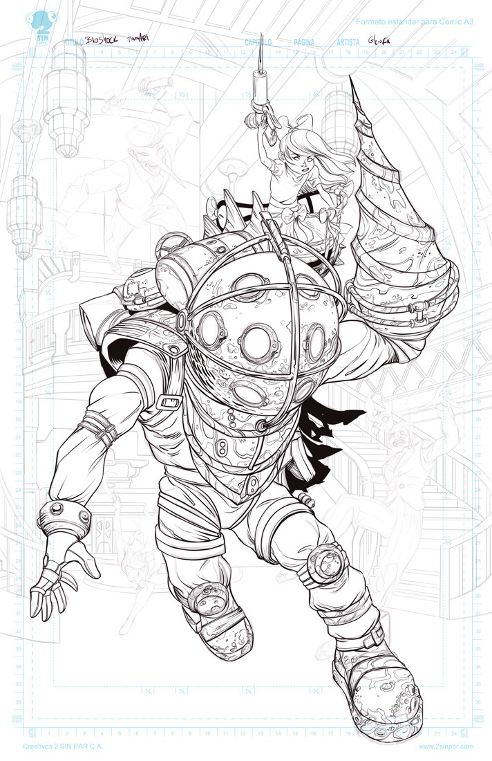 Initial inking.