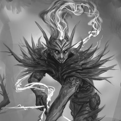 Dark Elf Archer sketch