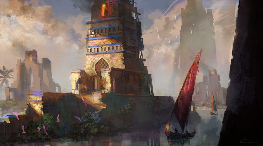 Consuelo pecchenino river lighthouse