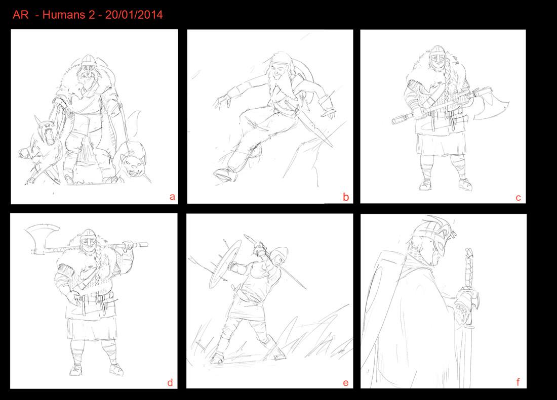 Human card sketches