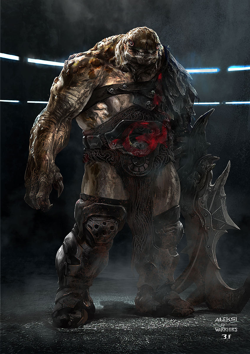 A guy supposed to fight in the arena.Also in Korg and Miek team . This ugly guy finally ended in the market sequence when Thor and Banner accidentaly collide with him. Making him angry and aggressive. And Thor trying to calm down Banner
