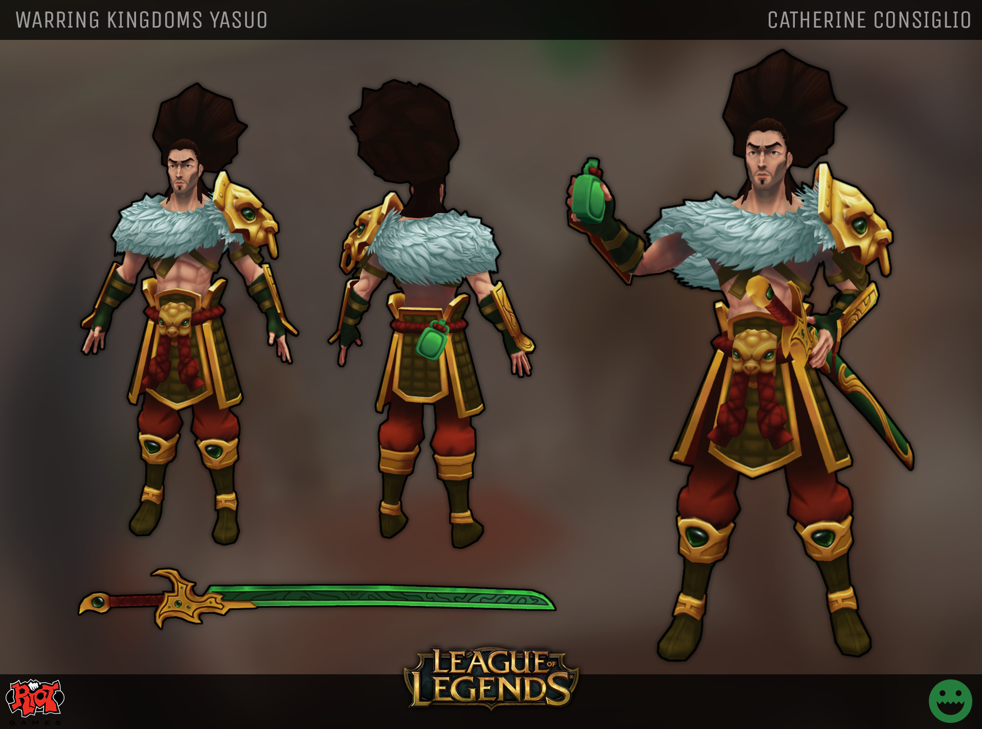 Catherine consiglio catherine consiglio warring kingdoms yasuo riot polycount challenge p1