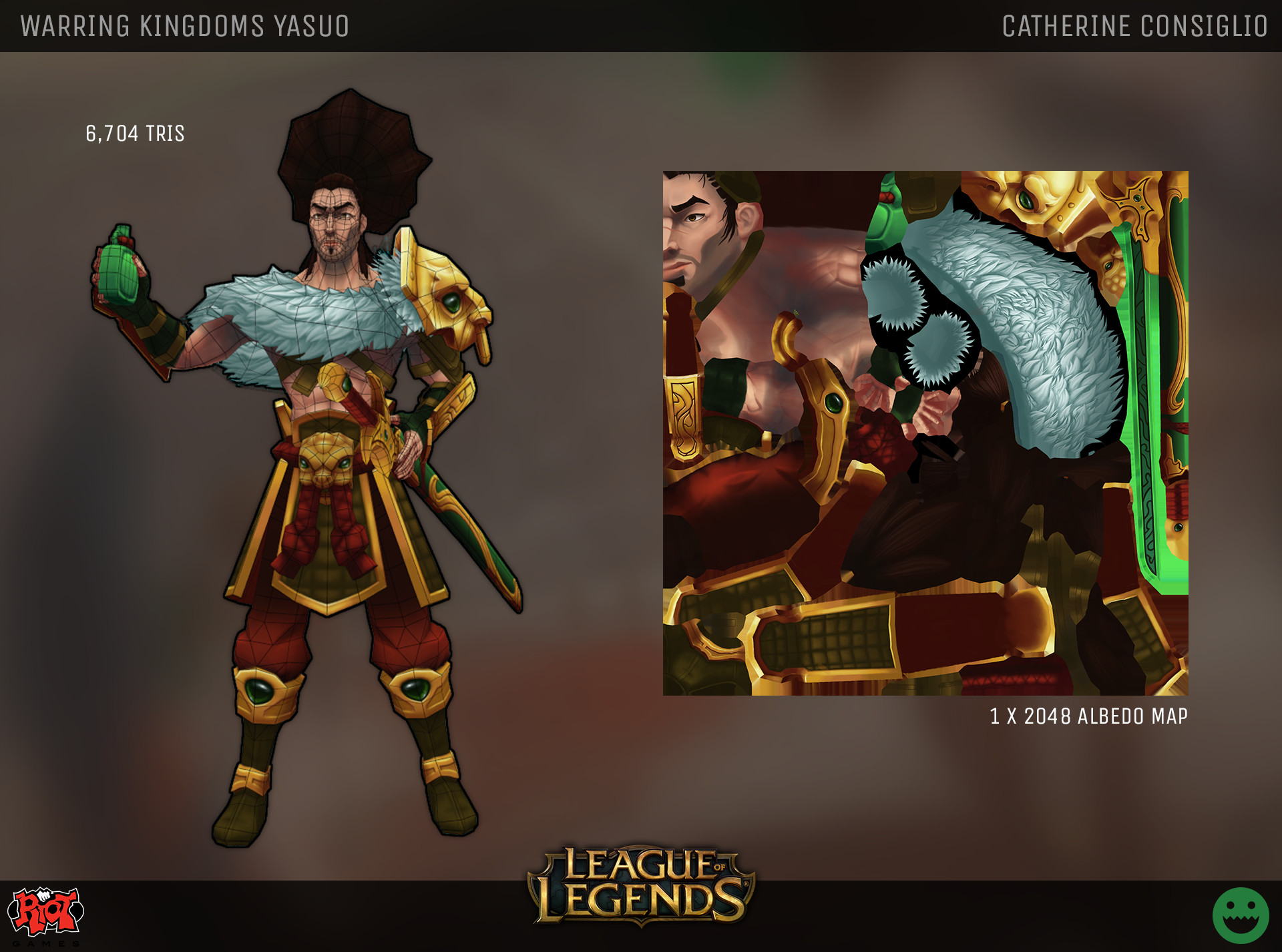 Catherine consiglio catherine consiglio warring kingdoms yasuo riot polycount challenge p2