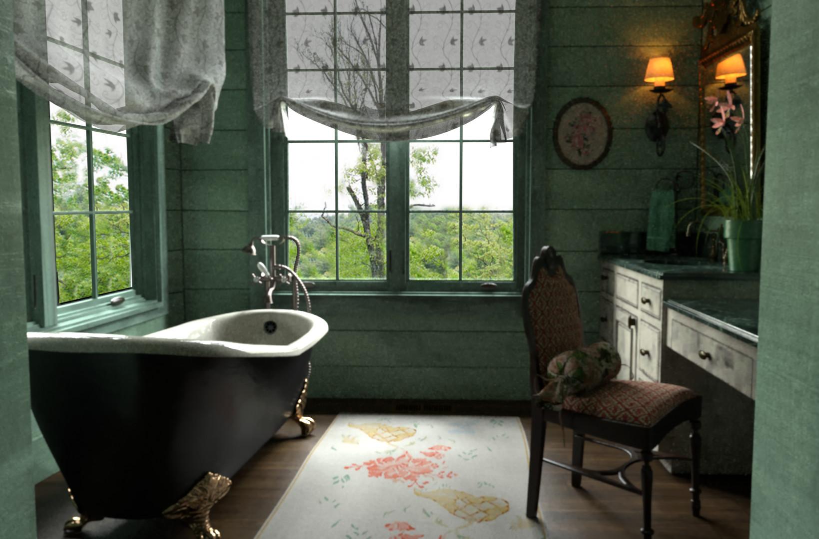 Alejandro Hernandez Victorian Bathroom