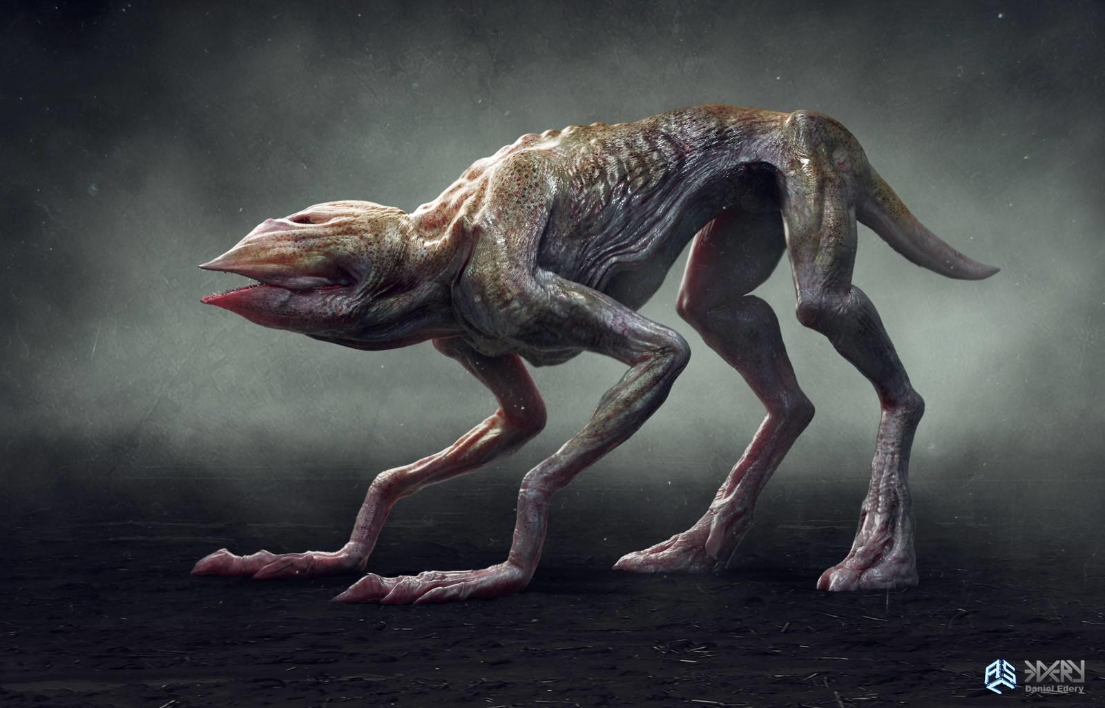 The Demo-Dog Final Concept Design for Stranger Things Season 2.