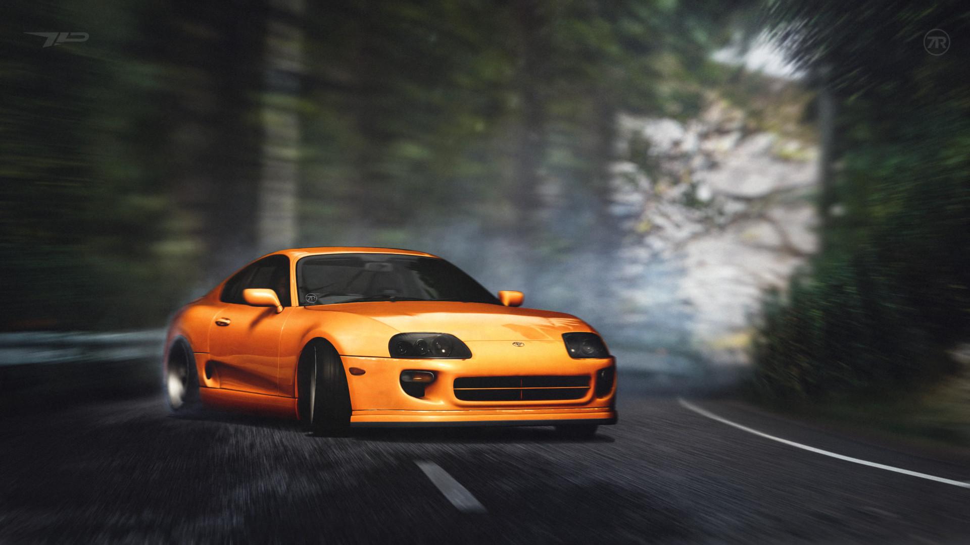 ArtStation - Toyota Supra - Touge Drift, Vladimir Gorbenko