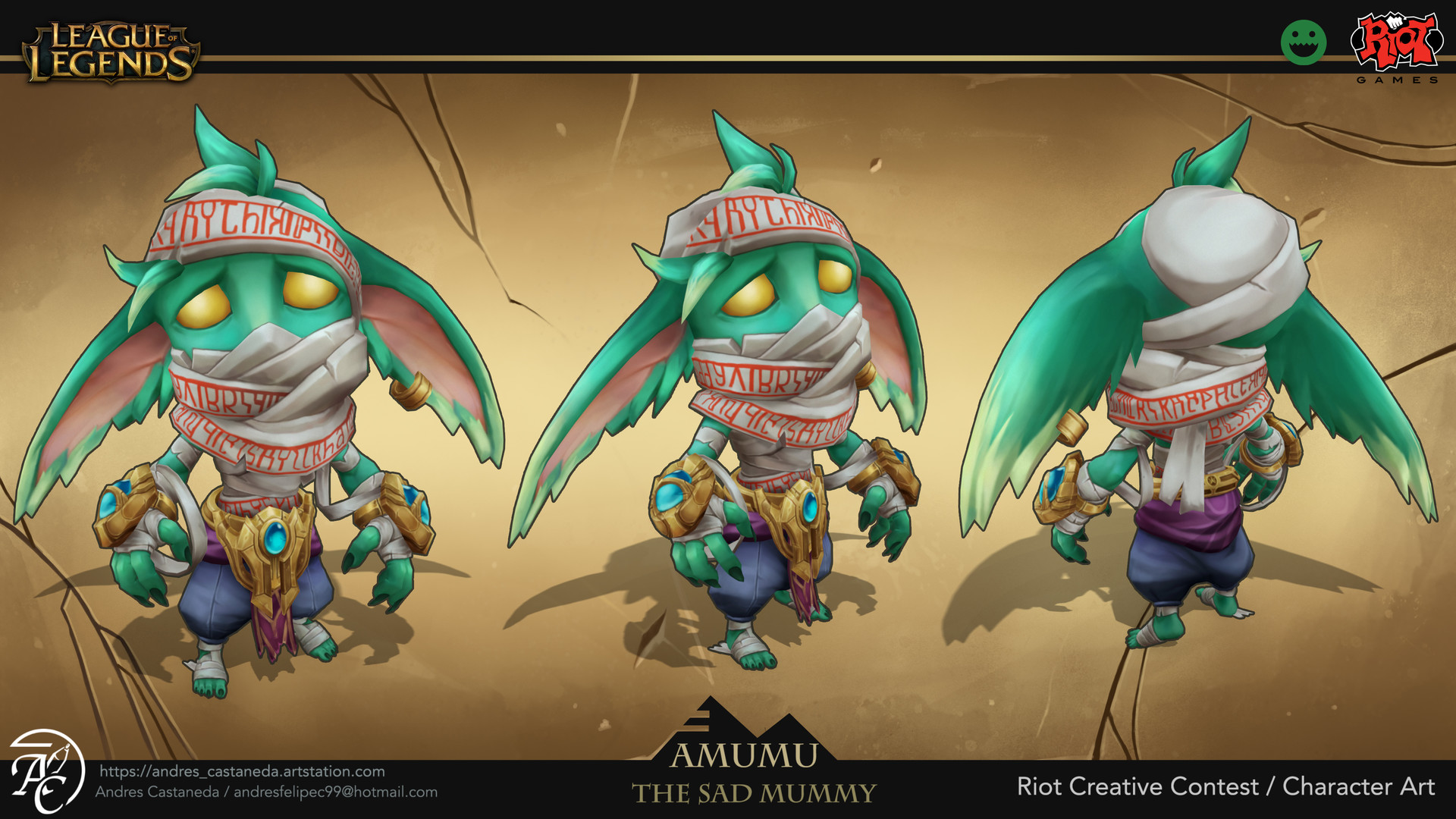 Amumu Visual Update Riot Creative Contest 2017