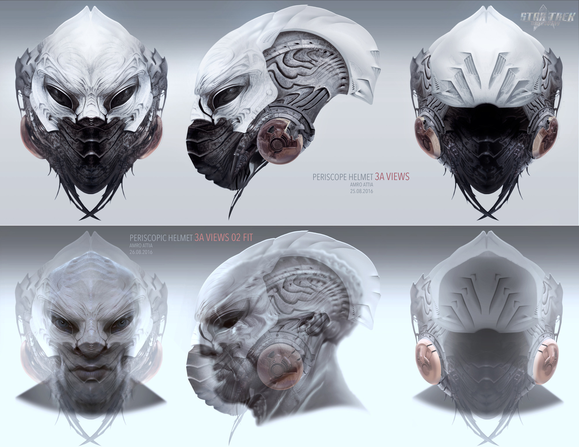 Periscopic helmet concept for Star Trek: Discovery