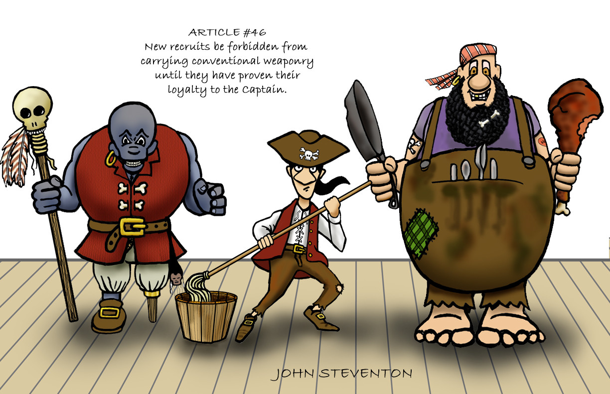 Character Design: Pirate Line-up with a twist