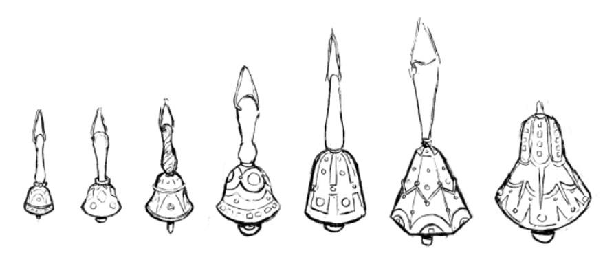 Abhorsen's Bells design.