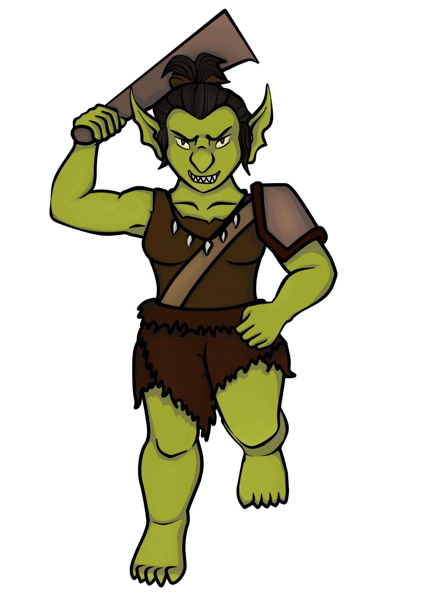 Jessica olney female goblin green